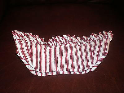 Longaberger 1993 Sweetheart Hostess Getaway Lg Picnic Basket Liner Red Ticking
