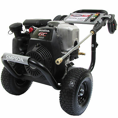 SIMPSON MegaShot 3100 PSI 2.5 GPM Honda GC190 Engine Gas Power Pressure Washer