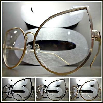 OVERSIZED VINTAGE RETRO CAT EYE Style Clear Lens EYE GLASSES Large Fashion Frame