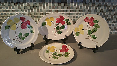 Vintage Heritage Ware by Stetson Hand Painted Underglaze Floral Pattern Plates
