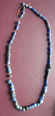 Ancient Lake Ladoga VIKING Artifact > String of 70+ Necklace Beads  AA42