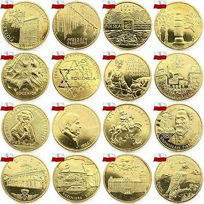 GBPPOLAND 2 ZL 1995-2002 YEAR COMPLET ALL COMMEMORATIVE COINS ZLOTE YEARS SET