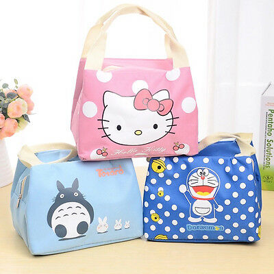 Thermal Picnic Lunch Bag Insulated Cooler Handbag Cute Food Storage Pouch Tote