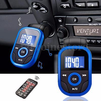 Car Kit MP3 Player Wireless FM Transmitter USB LCD Remote for iPhone Android iOS