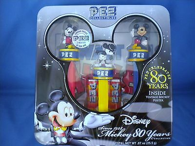PEZ - Disney Mickey 80 Years - With Vintage Poster - 2007