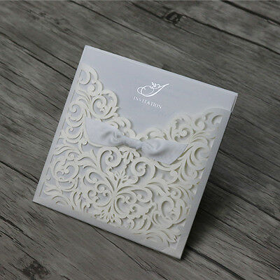 Laser Cut Vintage Wedding Engagement Invitation Cards Free Personalized Printing