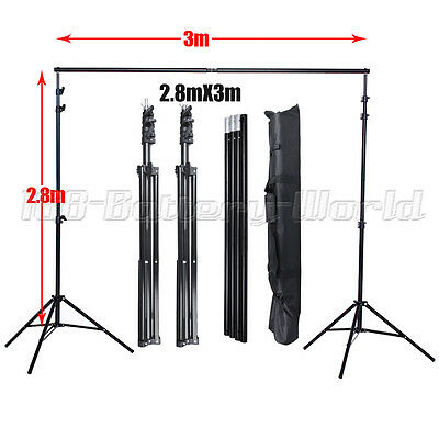 2.8x3m Largest Photo Studio Heavy Duty Backdrop Background Support Stand Kit Bag