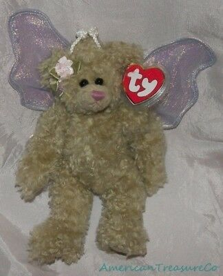 "NEW 1993 TY ATTIC Plush Shabby Jointed 8"" RAFAELLA The Shimmery BUTTERFLY BEAR"