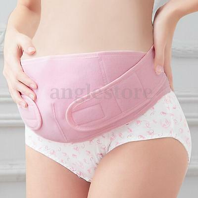 61''Pregnancy Maternity Back Support Belt Band Abdomen Tummy Belly Brace Pink US