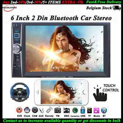6.6'' Bluetooth Touch Phone Mirroring Auto Radio Stereo MP4 USB/AUX/Remoto 2 DIN