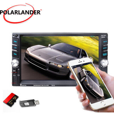 HD 6.6'' Touch Bluetooth Autoradio Stereo MP3 MP5 Player AUX/GPS/USB/Remoto 2DIN
