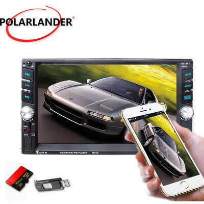 HD 7'' Touch Bluetooth Autoradio Stereo MP3 MP5 Player AUX/GPS/USB/Remoto 2DIN