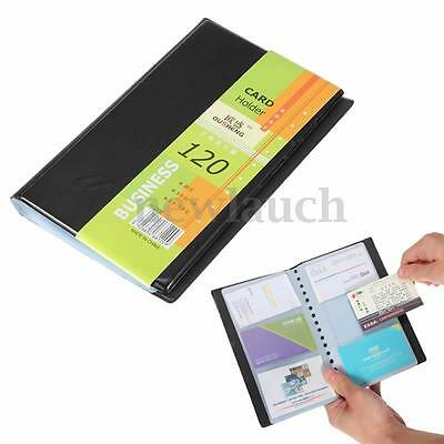 Leather 120 Cards Business Name ID Credit Card Wallet Book Holder Case Organizer
