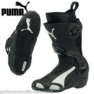 Black White Puma 1000 V3 Motorcycle Road Race Motorcycle Boot – Best You Can Buy