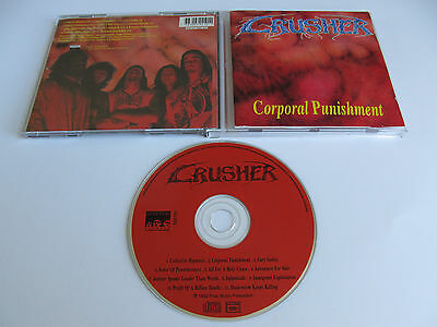CRUSHER Corporal Punishment CD 1992 VERY RARE OOP DEATH ORIGINAL 1st PRESSING!!!