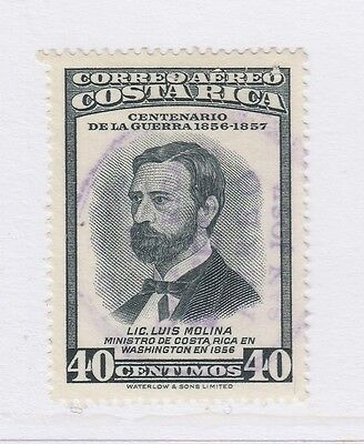 A2P51 COSTA RICA AIR POST STAMP 1957 40c USED