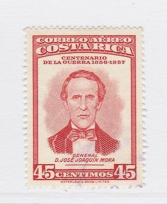 A2P51 COSTA RICA AIR POST STAMP 1957 45c USED