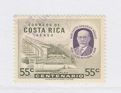 A2P51 COSTA RICA AIR POST STAMP 1959 55c USED