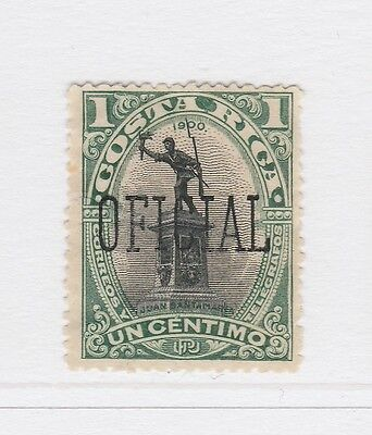 A2P51 COSTA RICA OFFICIAL STAMP 1901-02 OPTD 1c MINT NO GUM