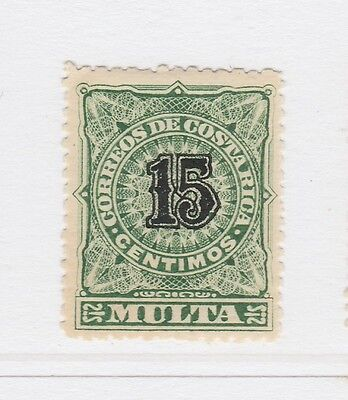 A2P51 COSTA RICA POSTAGE DUE STAMP 1903 15c MH*