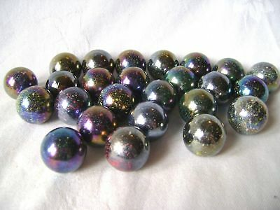 NEW 25 JUPITER 22mm GLASS MARBLES TRADITIONAL GAME COLLECTORS ITEMS HOM