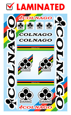 colnago bicycle frame decals stickers graphic set vinyl aufkleber adesivi 1