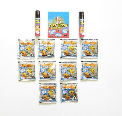 2 Cans Of Fart Spray & 10 Fart Bomb Bags  Combo  Stinky Smelly  Gag Gift Prank