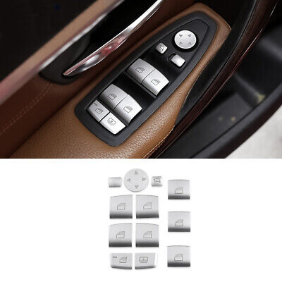 12pcs Chrome Window lift switch sequin Cover Trim For BMW 3 5 7 3GT Series F10