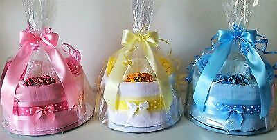 Baby Girl Boy Unisex Nappy Cake Baby Shower New Mum Maternity Gift