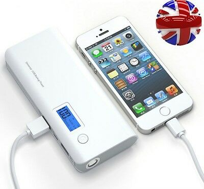 50000mAh Portable 2-USB Battery Charger LCD Mobile Power Bank For Samsung iphone
