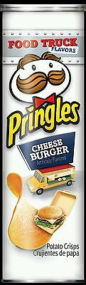 2 x Pringles Cheseburger USA chips canisters 169g