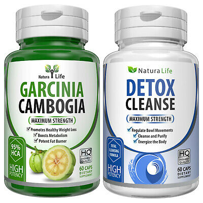 Garcinia Cambogia HCA 95% Colon Detox Cleanse Diet Weight Loss Slimming Capsules