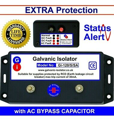 Galvanic Isolator - Wire In - Status Monitor. Canal boat, etc. 5 yr G'tee