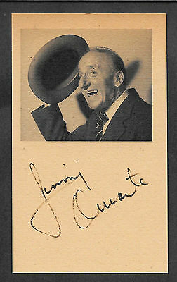 Jimmy Durante Autograph Reprint On Genuine Original Period 1940s 3x5 Card