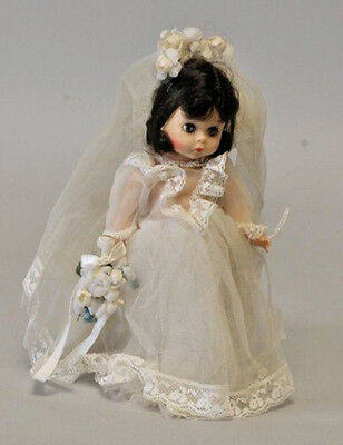 "Madame Alexander Wendy Bride Doll 7 1/2"", All Original, Tagged dress, Date?"