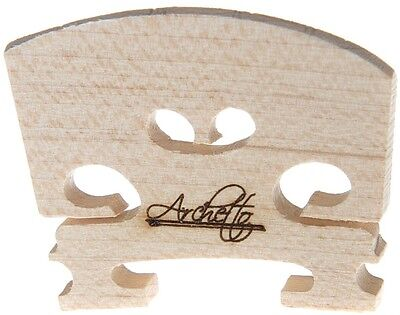 Archetto Violin Bridge - Quality Maple Bridge - Medium High Height in 4/4 or 3/4