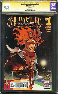Angela: Asgard's Assassin #1 CGC 9.8 NM/MT SIGNED STAN LEE Marvel Thor Gillen