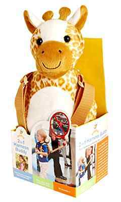 Animal 2-in-1 Harness Baby Toddler Kid Safety Knapsack 4ft Strap Pouch Giraffe