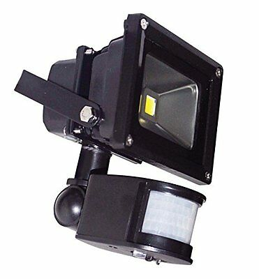 Pik-a-Pak L320A 10 W LED PIR Glass Waterproof IP65 Flood Light, Black