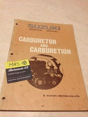 Suzuki service manual handbook carburetor carburation carburateur