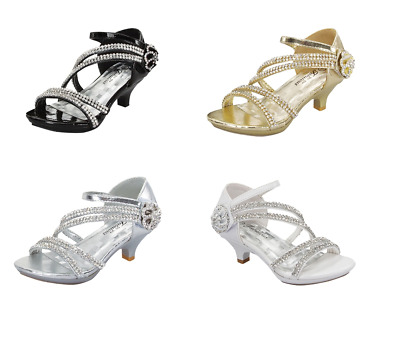 New Baby Toddler Girls Fashion High Heels Shoes Wedding Formal Princess Pageant
