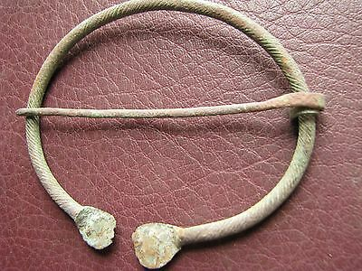 Authentic Ancient Lake Ladoga VIKING Artifact   Bronze Fibula Brooch AA35