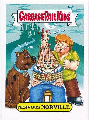 NERVOUS NORVILLE 7A 2016 Garbage Pail Kids Prime Slime Trashy CARTOON SCOOBY-DOO