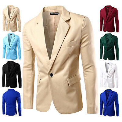 Men's Suit Coat Regular Blazer 1-Button Business Casual Soft Slim Jacket Summer