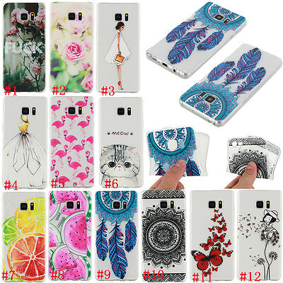 Clear Ultra-thin Pattern Soft Silicone TPU Rubber Gel Back Case Cover For Phone