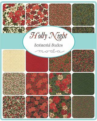 Patchwork/quilting Fabric Moda Charm Squares/packs - Holly Night