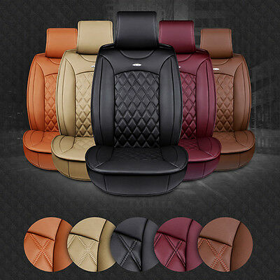Luxury High Quality Multicolor Full PU Leather Winter Car Seat Cover Set Cushion
