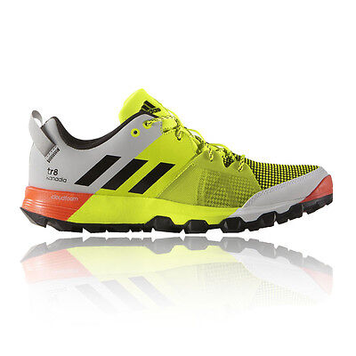 Adidas Kanadia 8 TR Mens Yellow Trail Running Sports Shoes Trainers Pumps