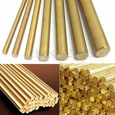 Gold H59 8mm Dia. Hardware Brass Round Bar / Rod Circular Wire Tube Modelmaking