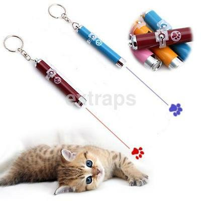Pet Cat Kitten Toy Laser Pointer LED Light Pen Torch Moving Cute Paw Chase Toy U